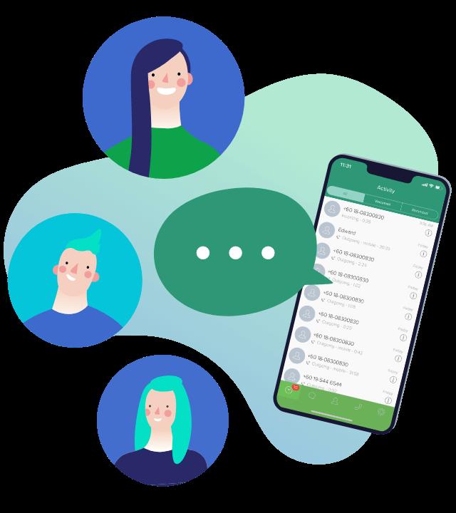 virtual receptionist illustration