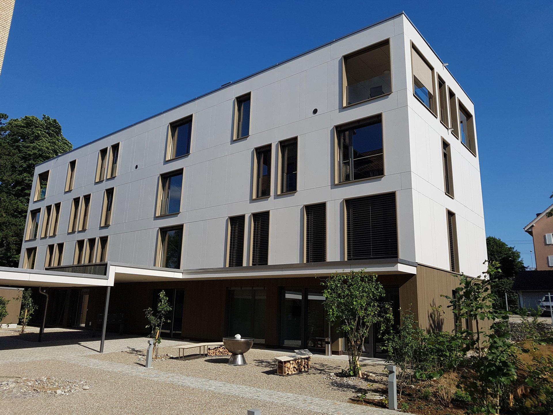 Aussenansicht des Wohn- und Geschäftshauses in Rheinfelden