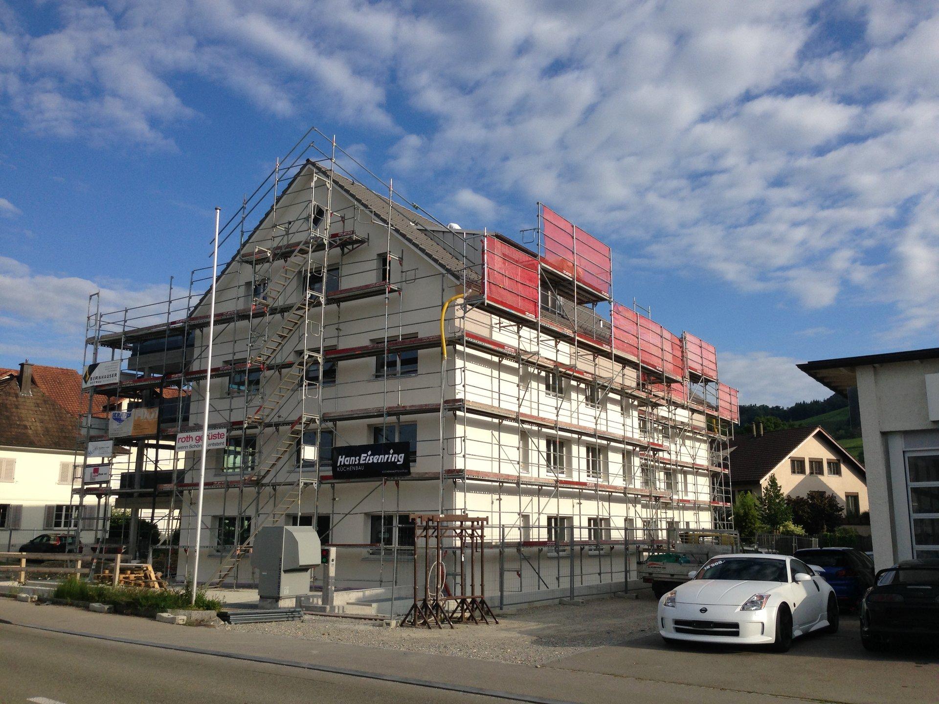 Aussenansicht des MFH Schlossblick in Weinfelden