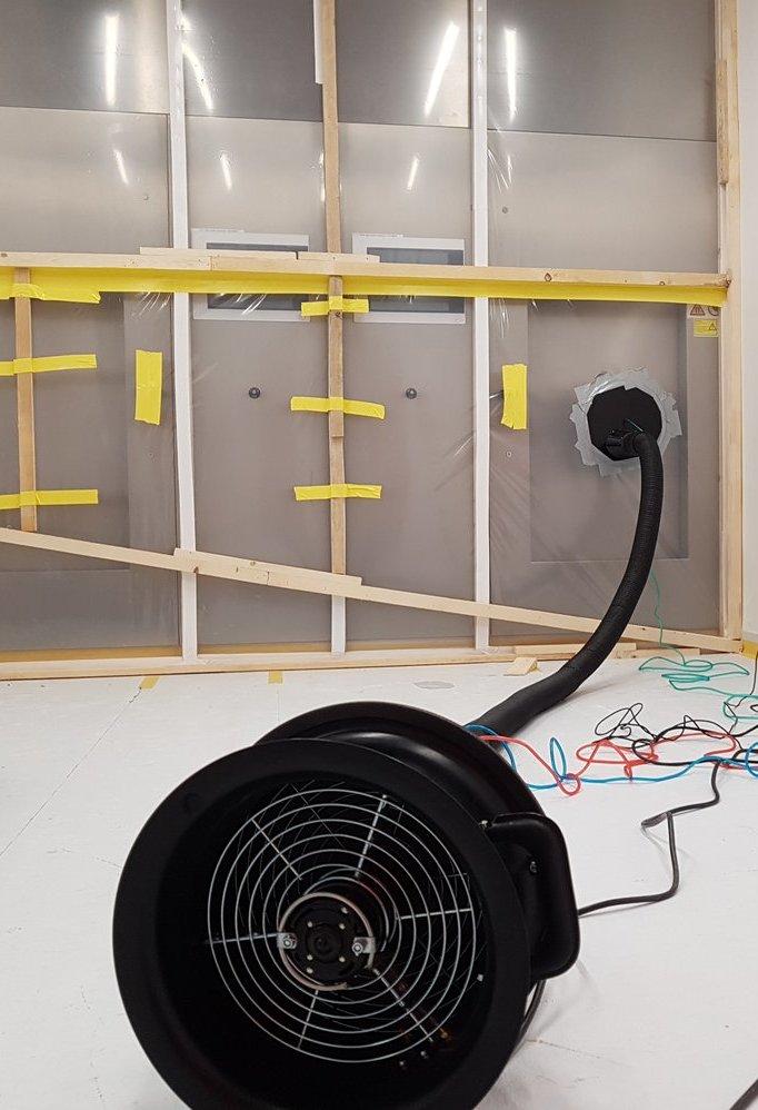 Blower Door MLM-Bauteilprüfung