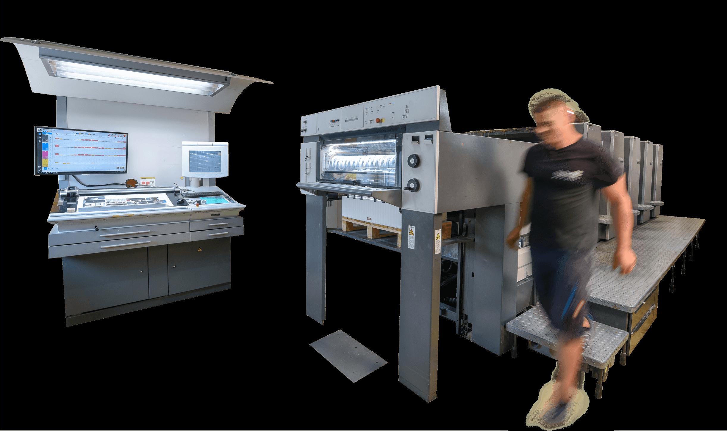 gndruck 5-Farben-Offset-Druckmaschine
