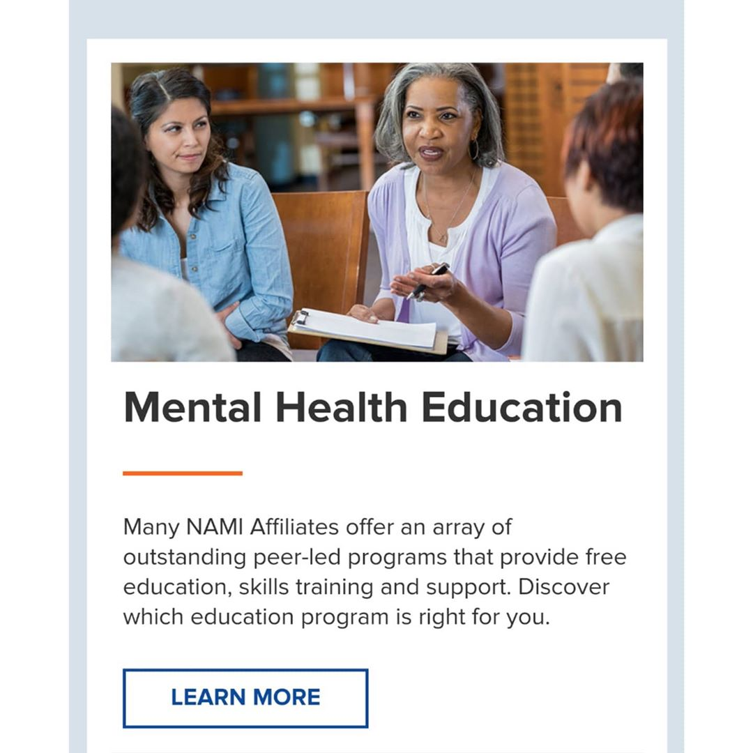 Mental Heath Education: Many NAMI Affiliates offer an array of outstanding peer-led programs that provide free education, skills training and support. Discover which education program is right for you.