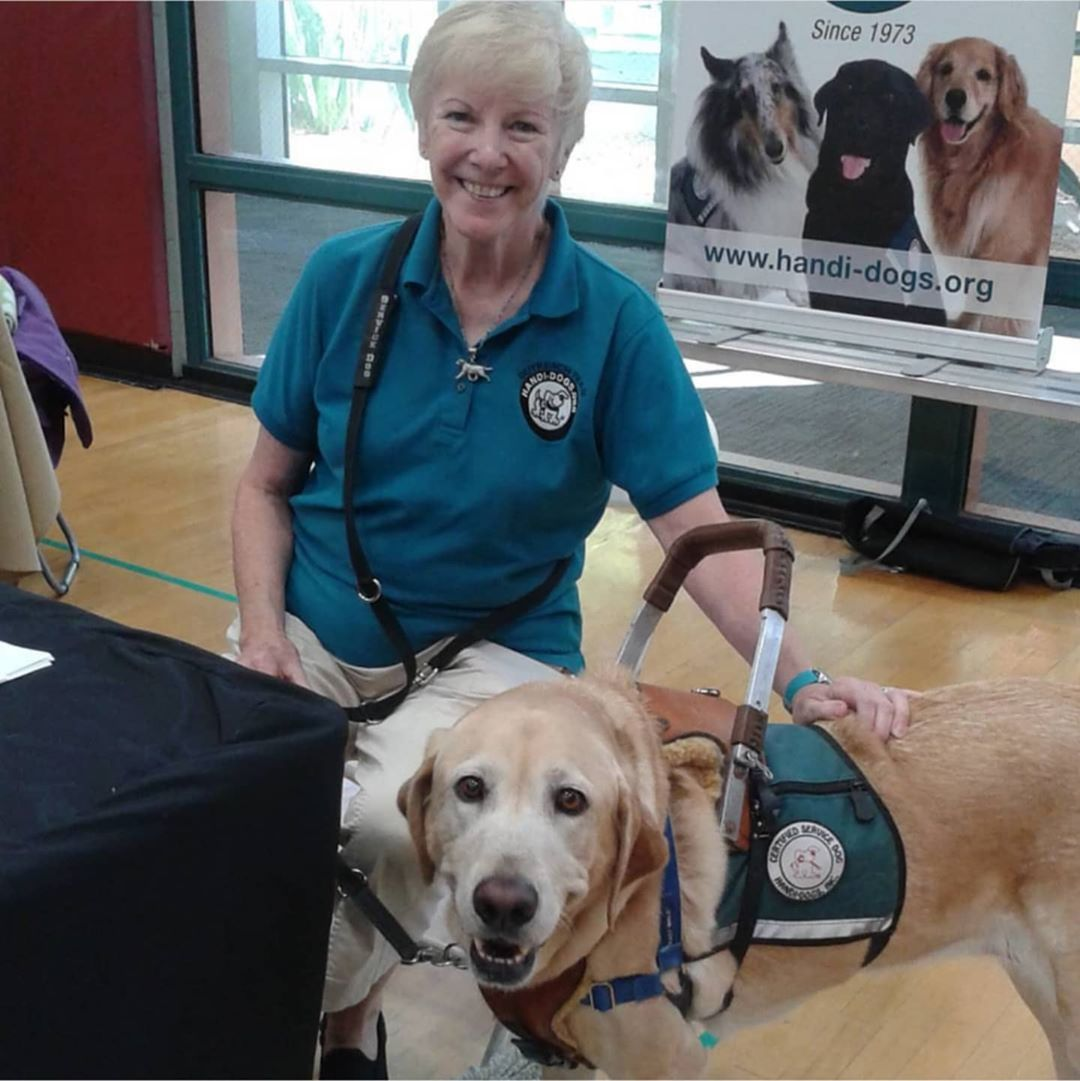 Another woman with a service dog