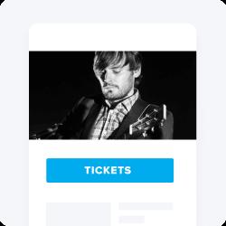Artist photo on a ticketing website.