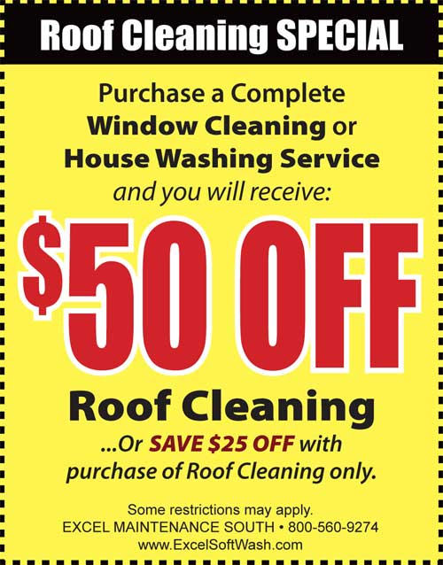 Residents in Punta Gorda FL get a discount on roof cleaning