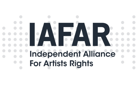 A logo for IAFAR - Independent Alliance For Artist Rights
