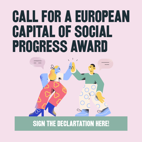 Mobile banner for the Social Progress Award