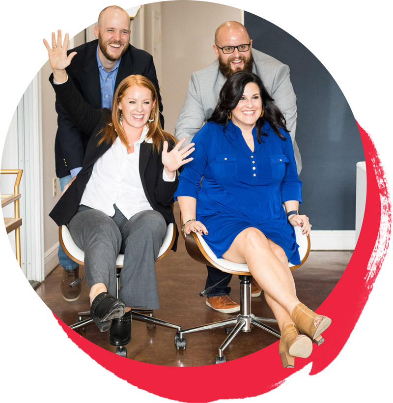 The Robin Realty Team showing off their fun company culture