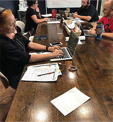 Robin Realty team members working together