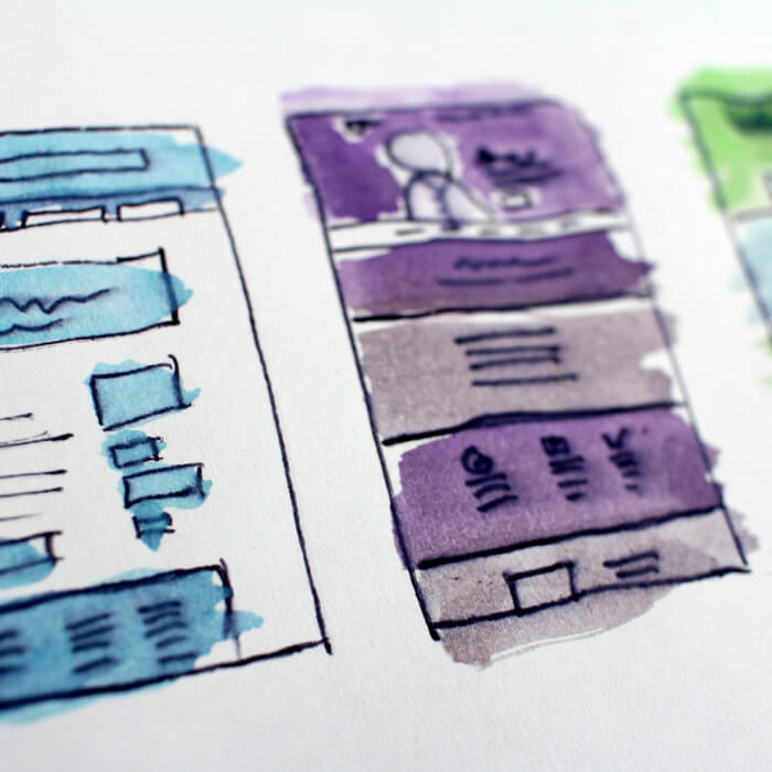 Image of UI/UX wireframes