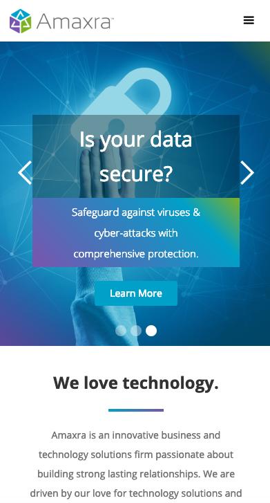 amaxra website screen shot