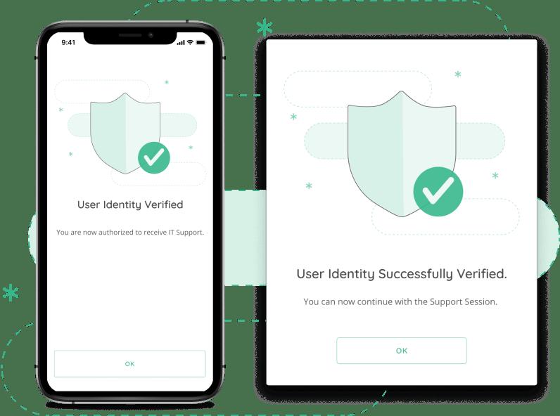 end-user verification message
