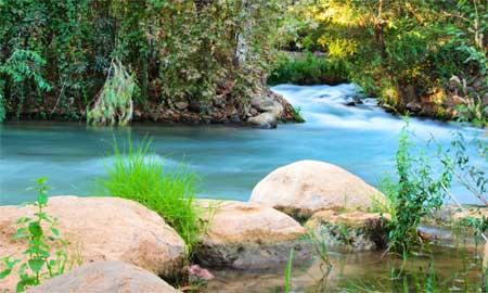 stream feeding the Jordan River