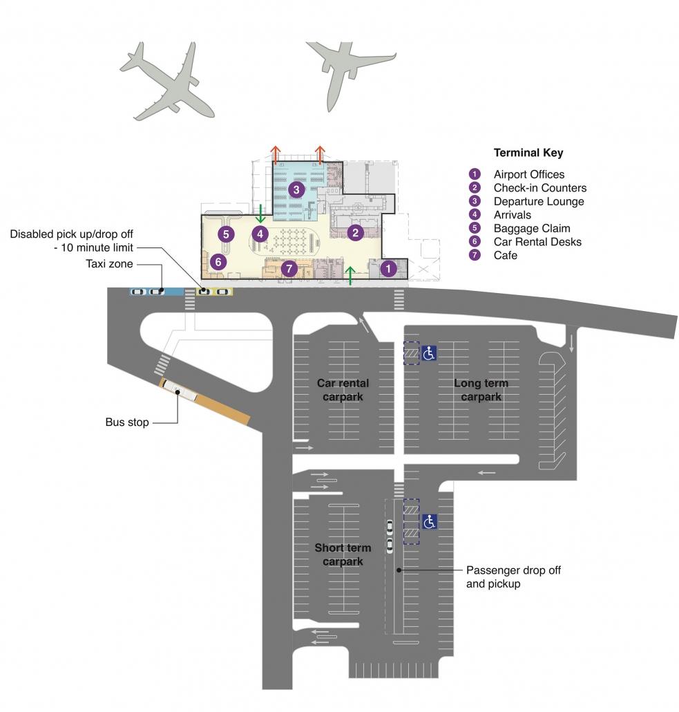 Terminal Map Mount Isa Airport