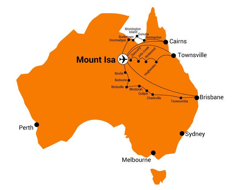 Mt Isa Map choose a destination – Mount Isa Airport