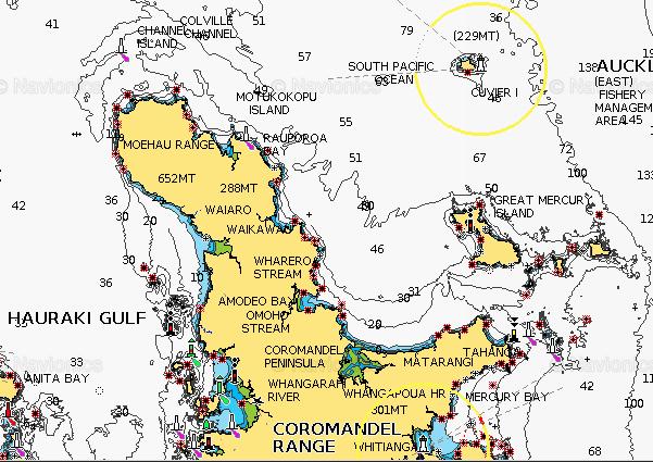 Coromandel map - Navionics