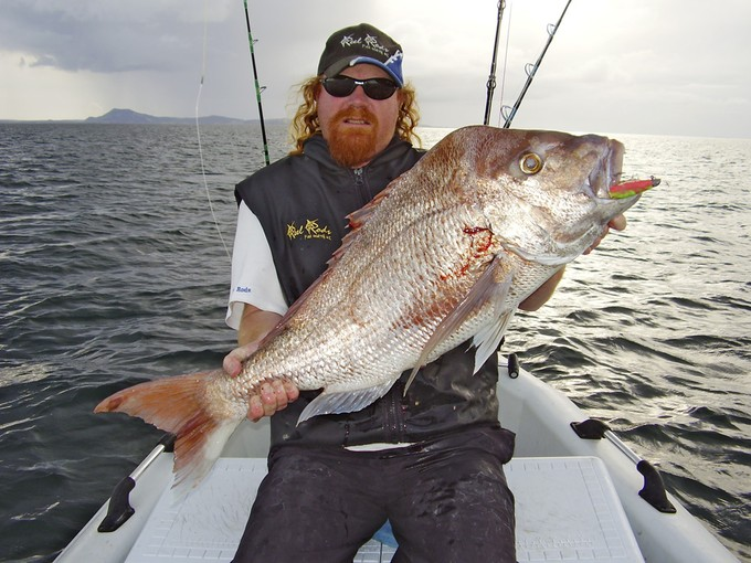 Kieron Olson with a massive far north snapper