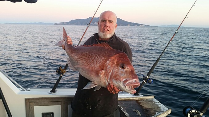 Neil Gorringe with a massive trophy snapper