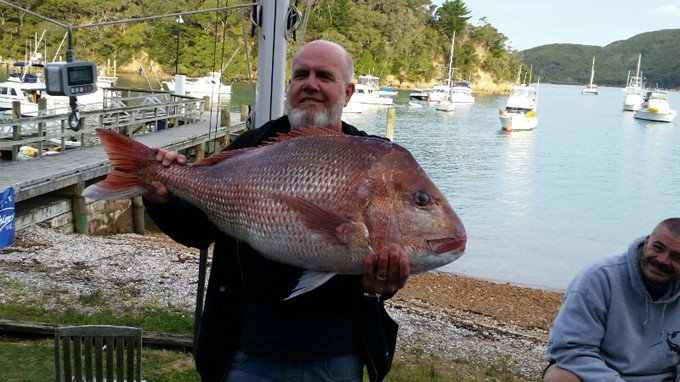 Neil Gorringe with a massive 14.75 snapper