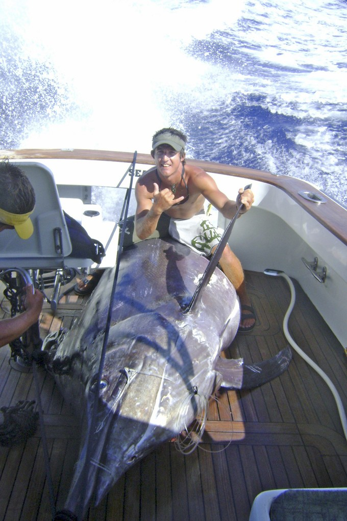 Bevan Beauchamp with a trophy marlin