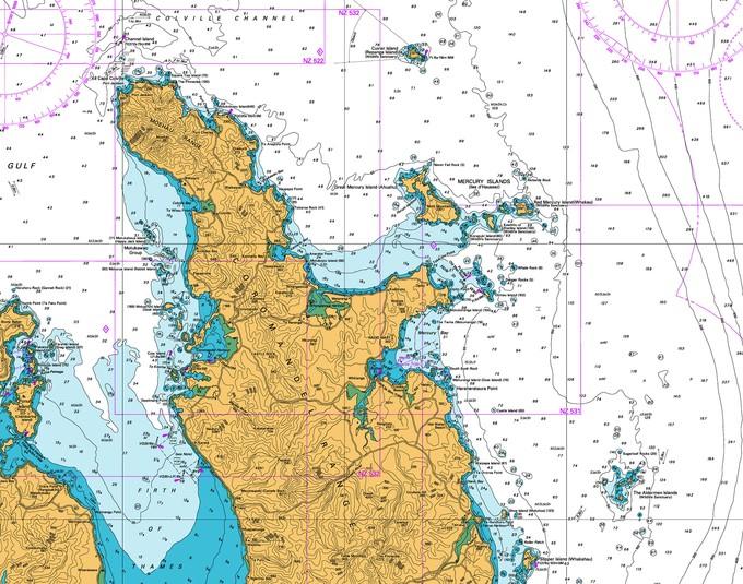 Coromandel map fishing