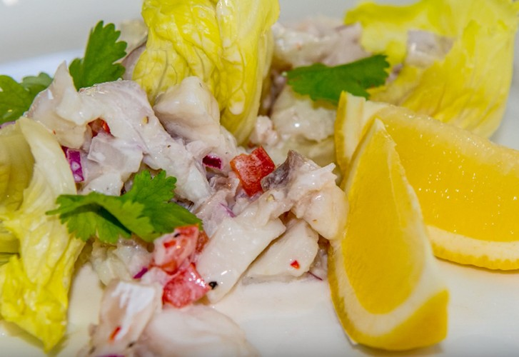 Make 'island style' coconut and lemon raw fish