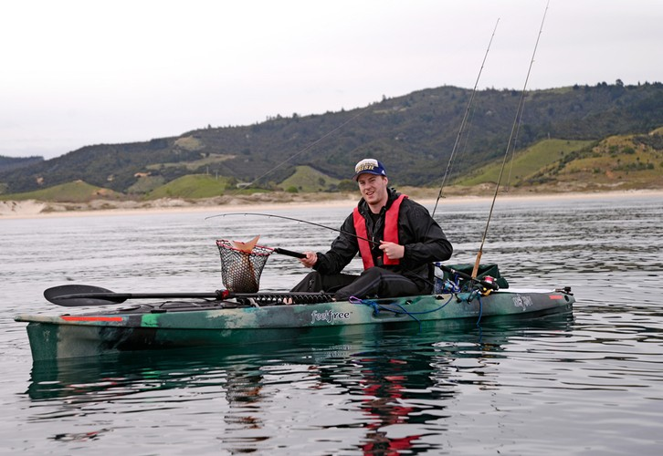 Kayak fishing Coromandel's Matarangi to Matapoua Bay coastline