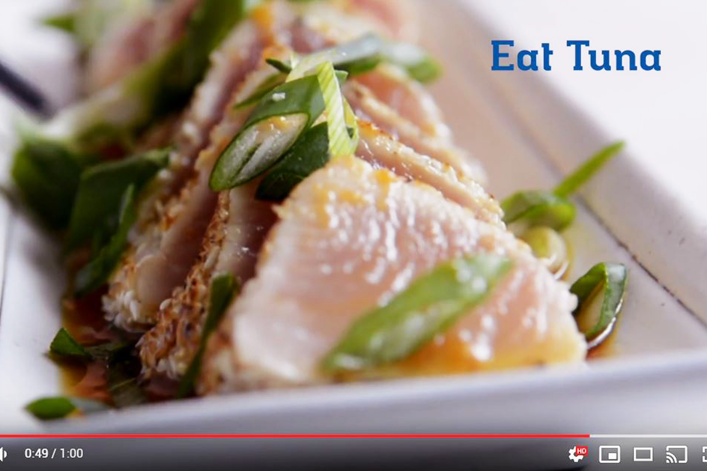 Seared albacore tuna recipe