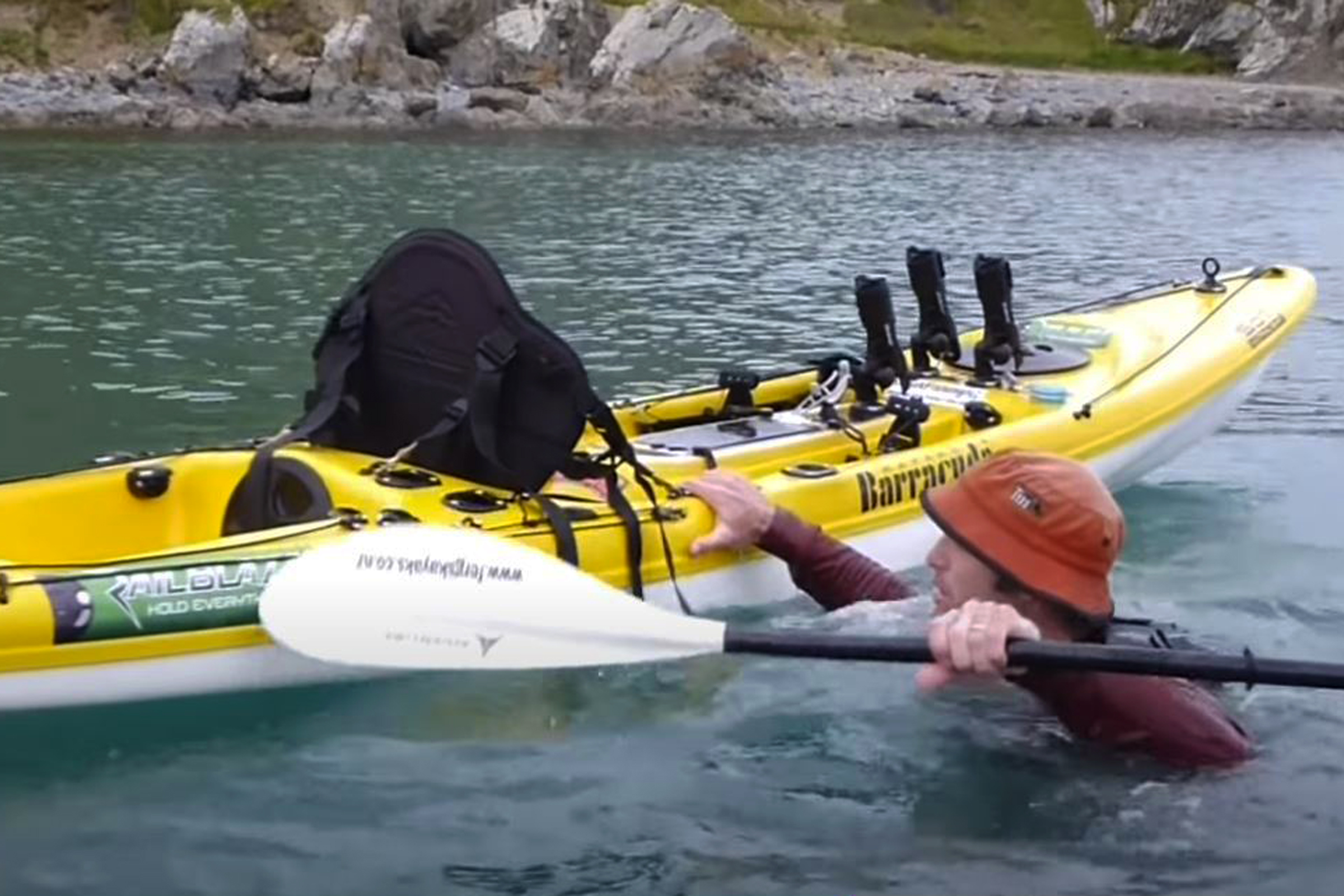 How to get back on your SOT kayak with Paddle Guy & Dave