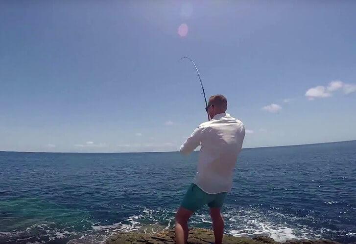 Land-based mayhem - Morning Tide Fishing
