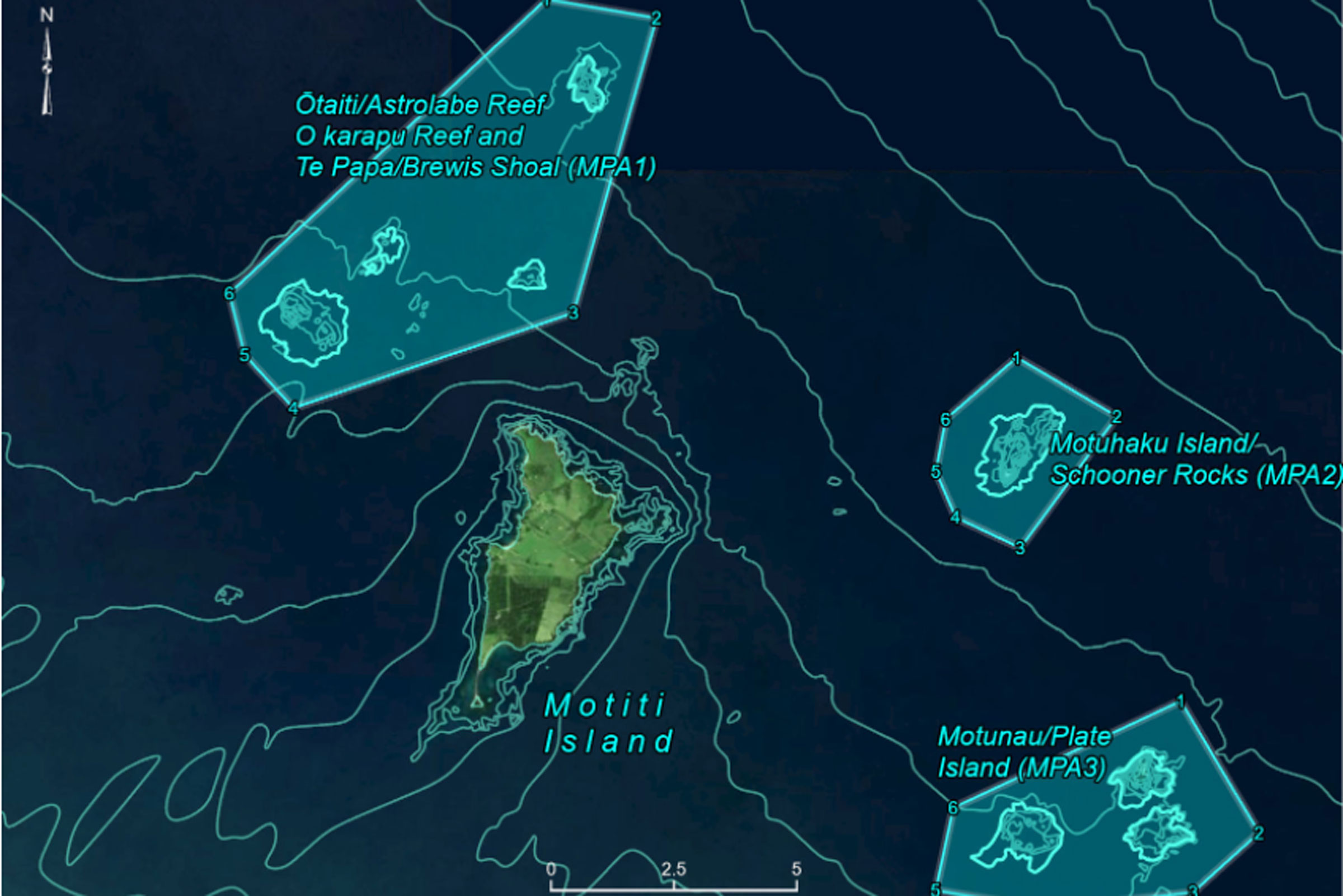 Motiti Protected Fishing Areas from 11 August 2021