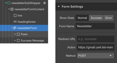 Integrating MailChimp into your Webflow site - Screenshot 6