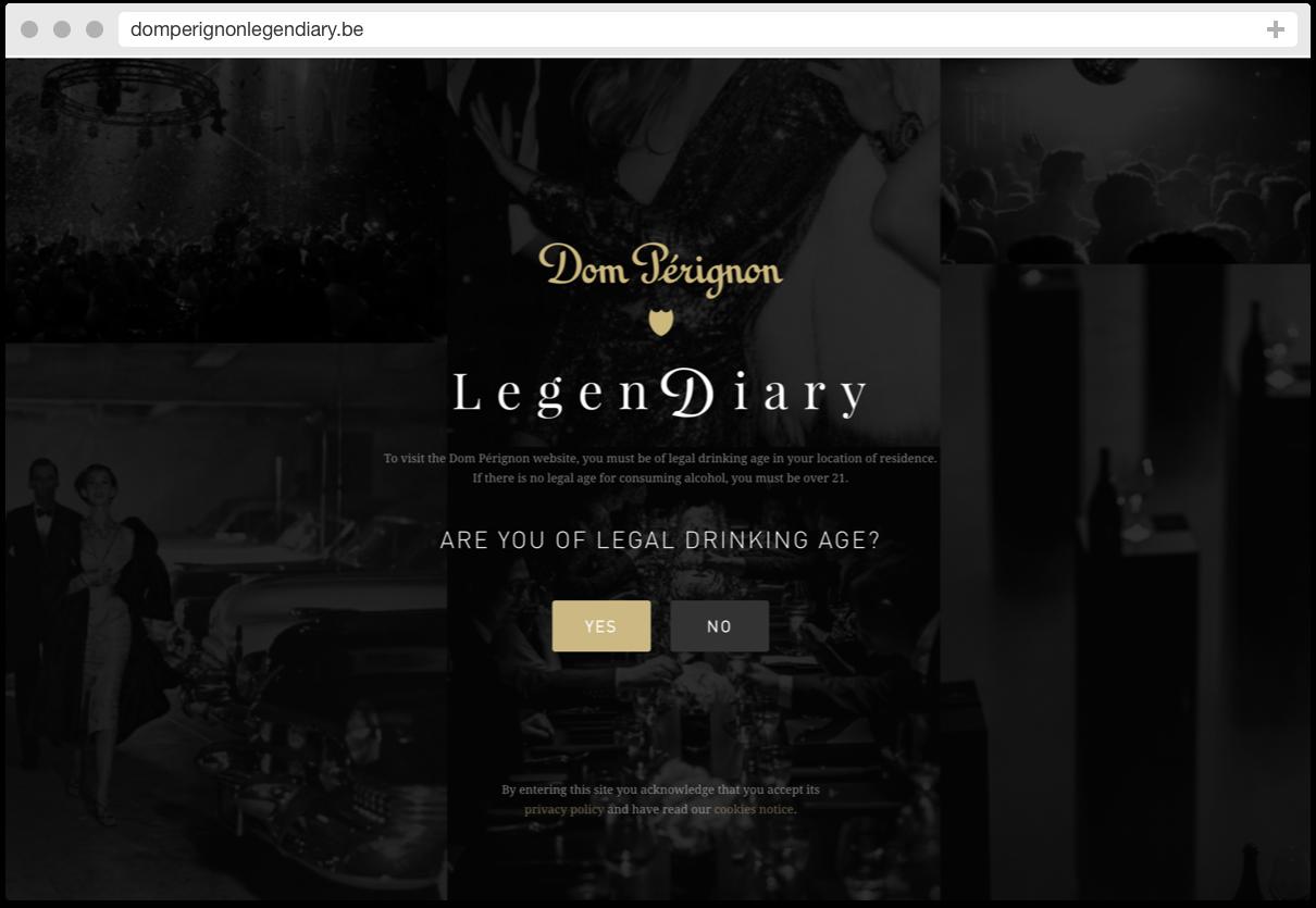 Dom Pérignon Legendiary Homepage