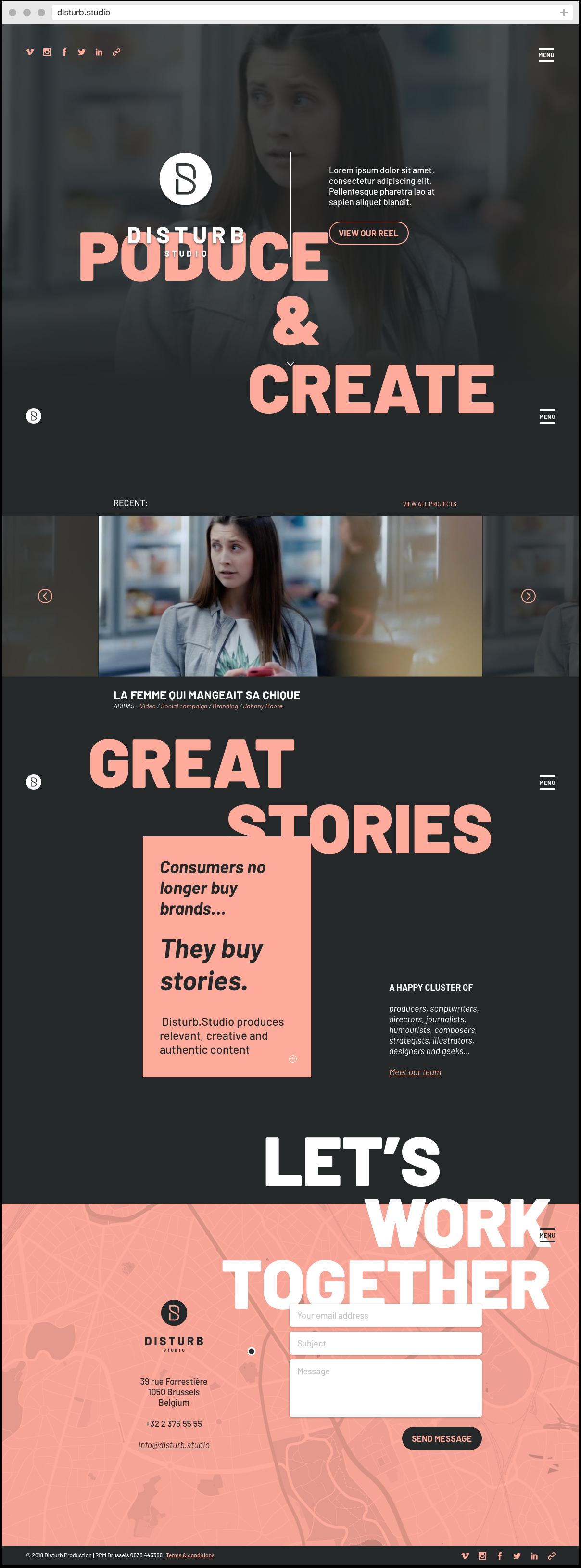 Disturb homepage