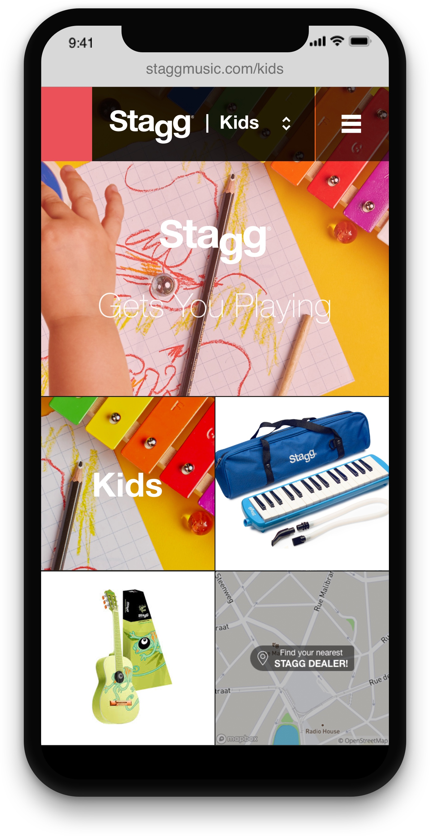 Stagg homepage on iphone