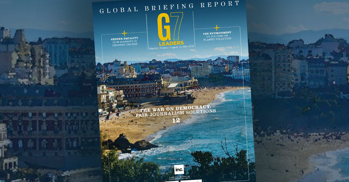 14 Chris Purifoy Fair journalism war on democracy g7 summit france 2019 learning economy welibrary