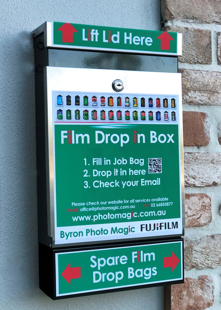 Film Drop In Box