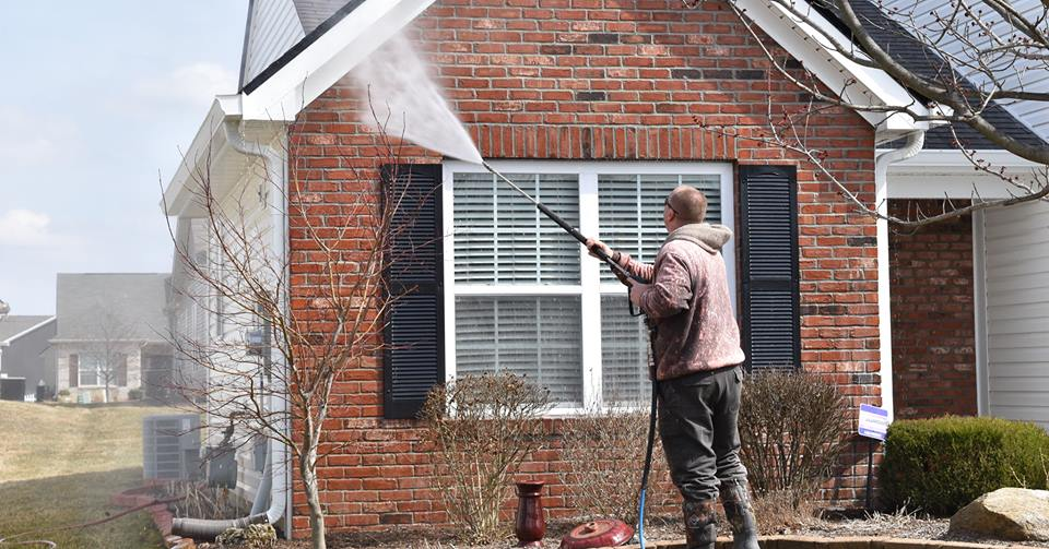house in fishers indiana pressure washed