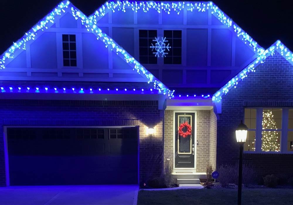 Indianapolis home christmas light installation