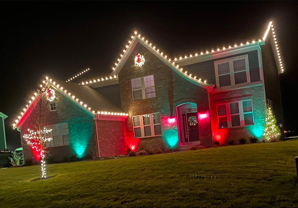 Christmas light installation by Pressure Doctor, Indianapolis