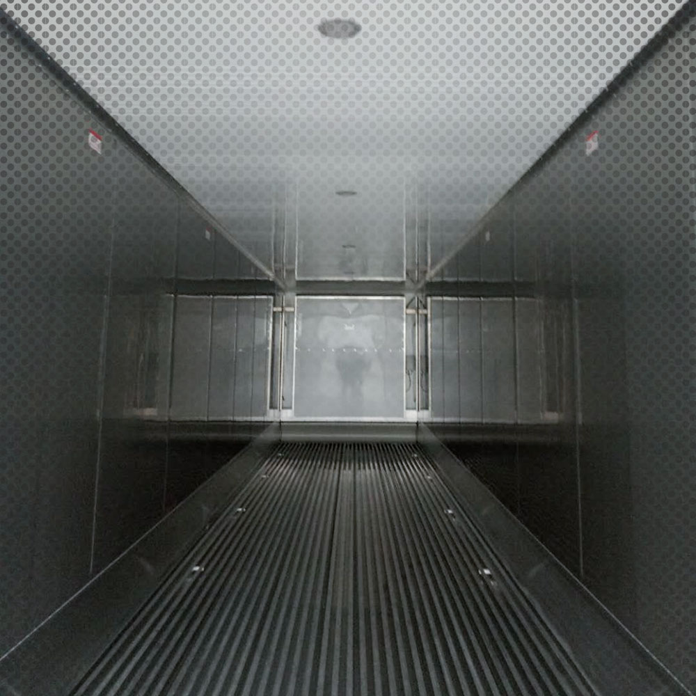 inside of a cold storage container