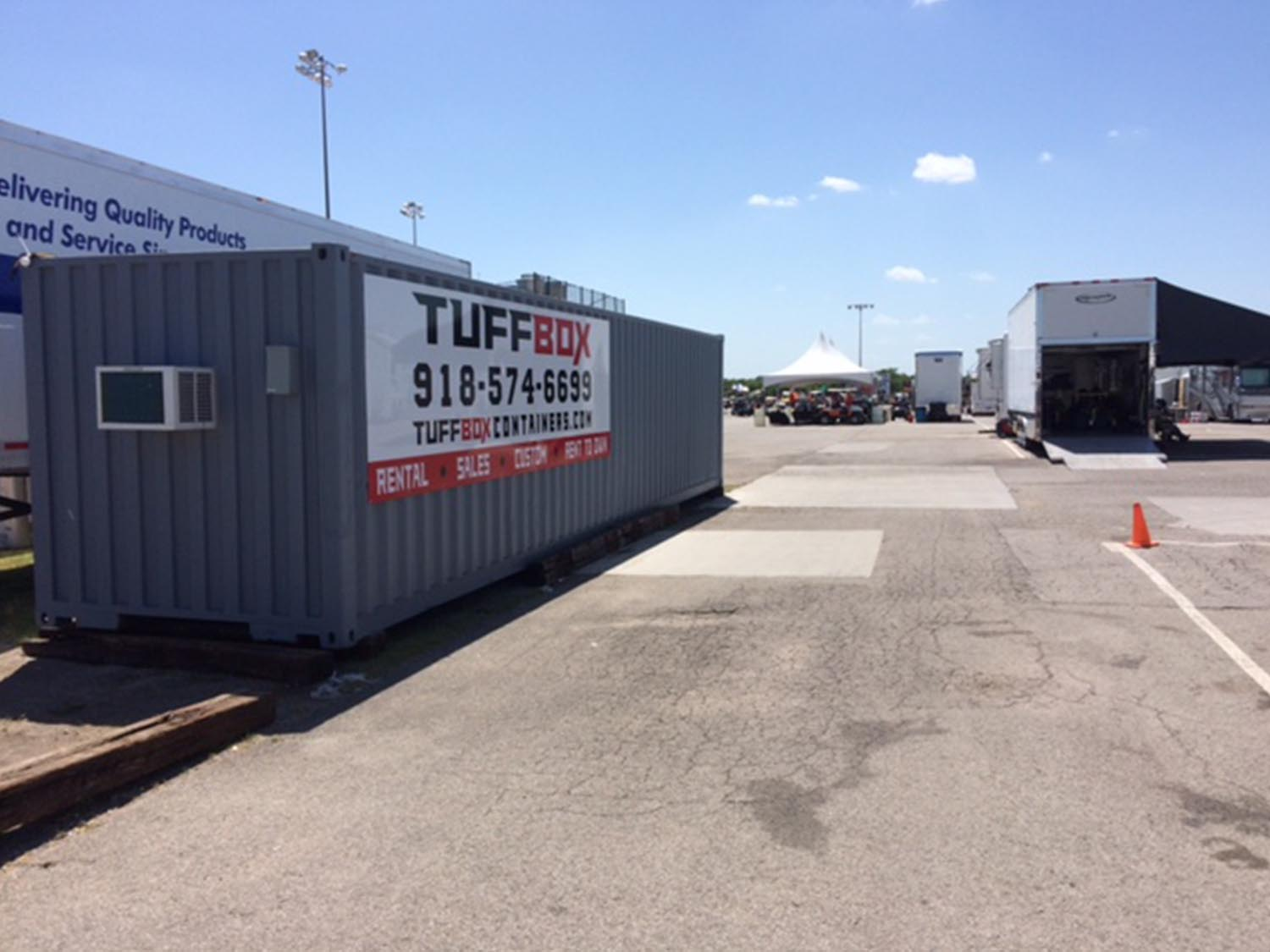 custom paint and HVAC in a shipping container