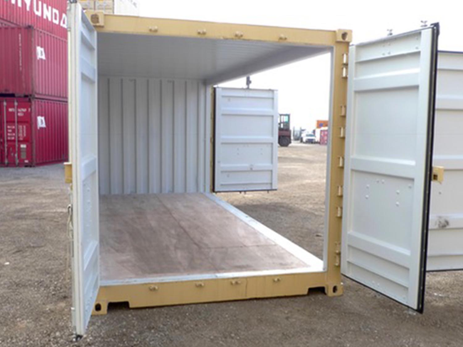 Custom shipping container doors