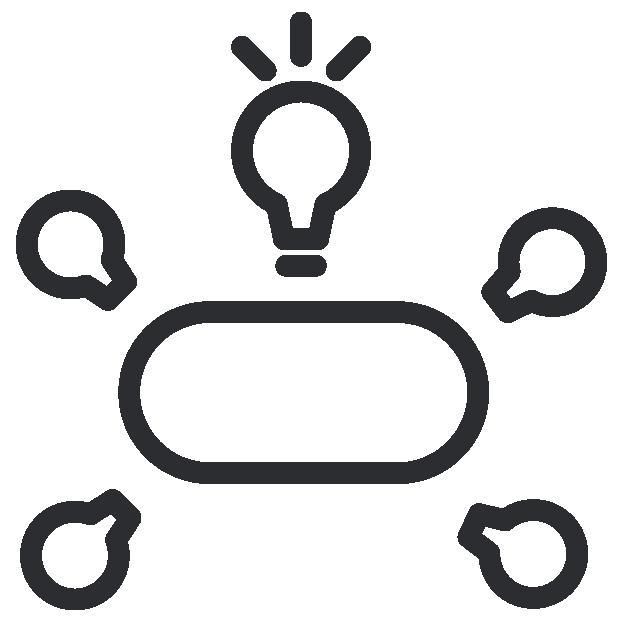 Ideas exchange workshop icons