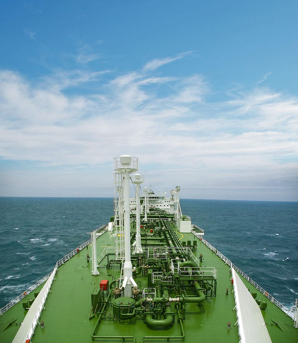 floating liquefaction facility at sea