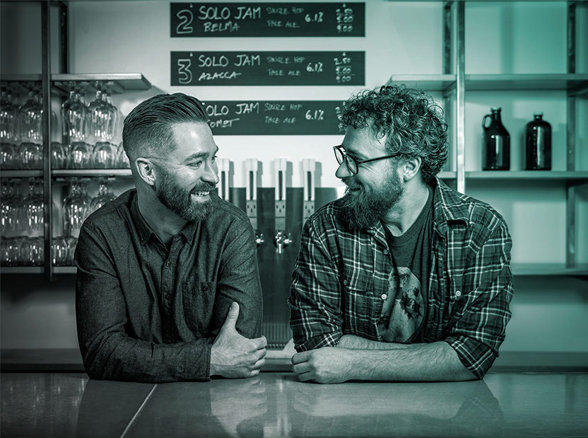 Photo of Co-Founders, Rich and Graeme from Counterpoint Brewing Co.