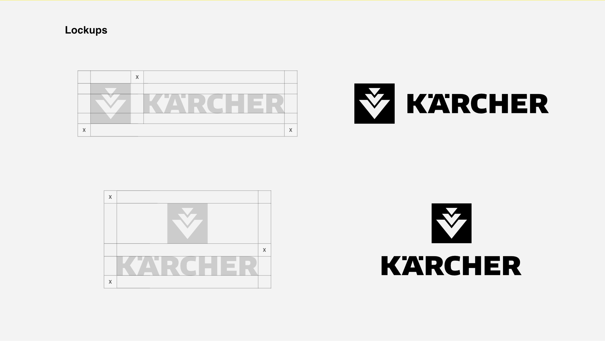 Kärcher - redesign concept: Lockups