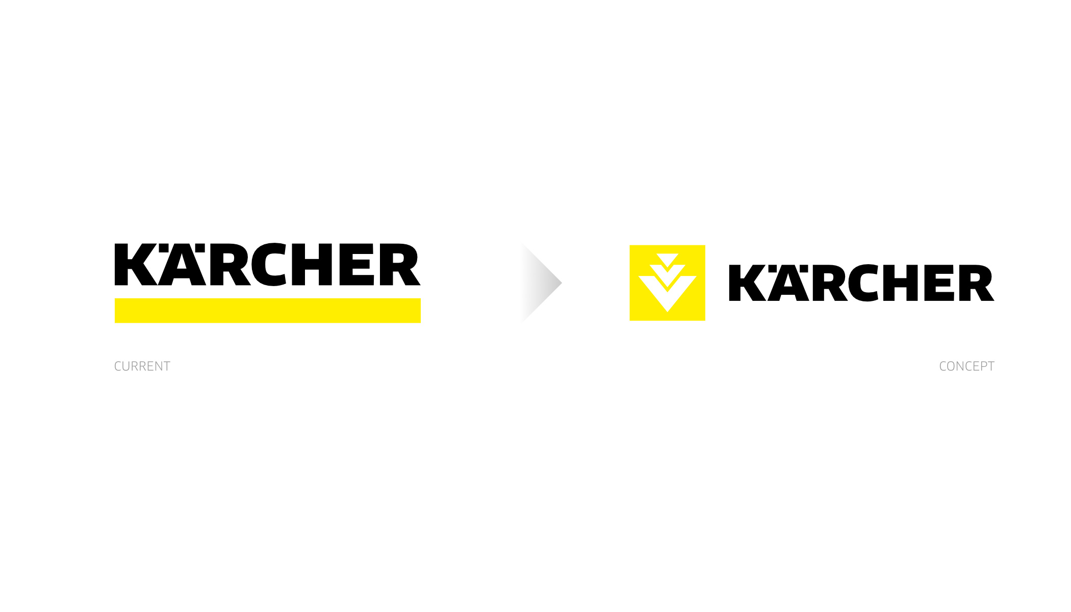 Kärcher - redesign concept: comparison