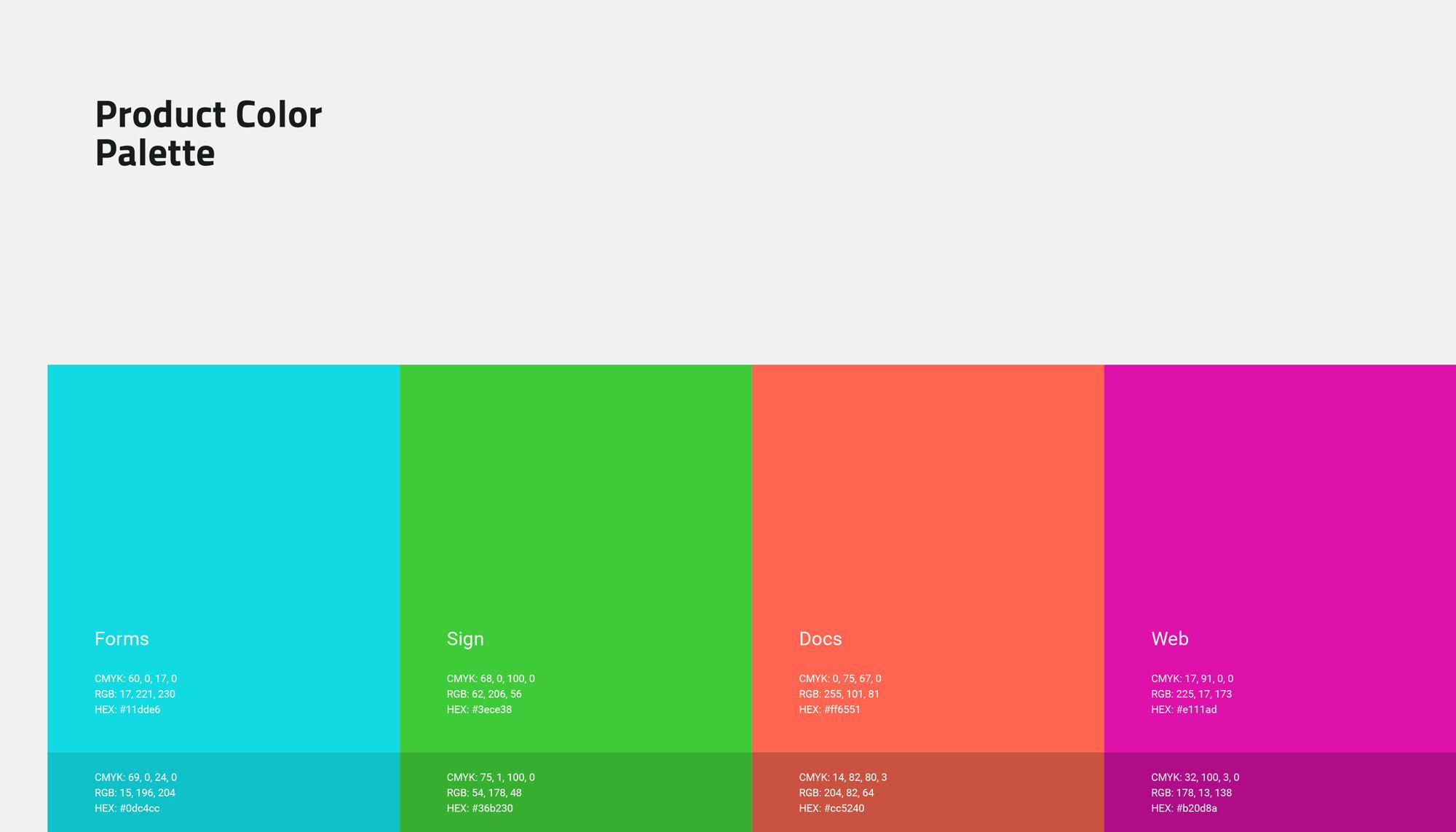 TITAN - Product Color Palette