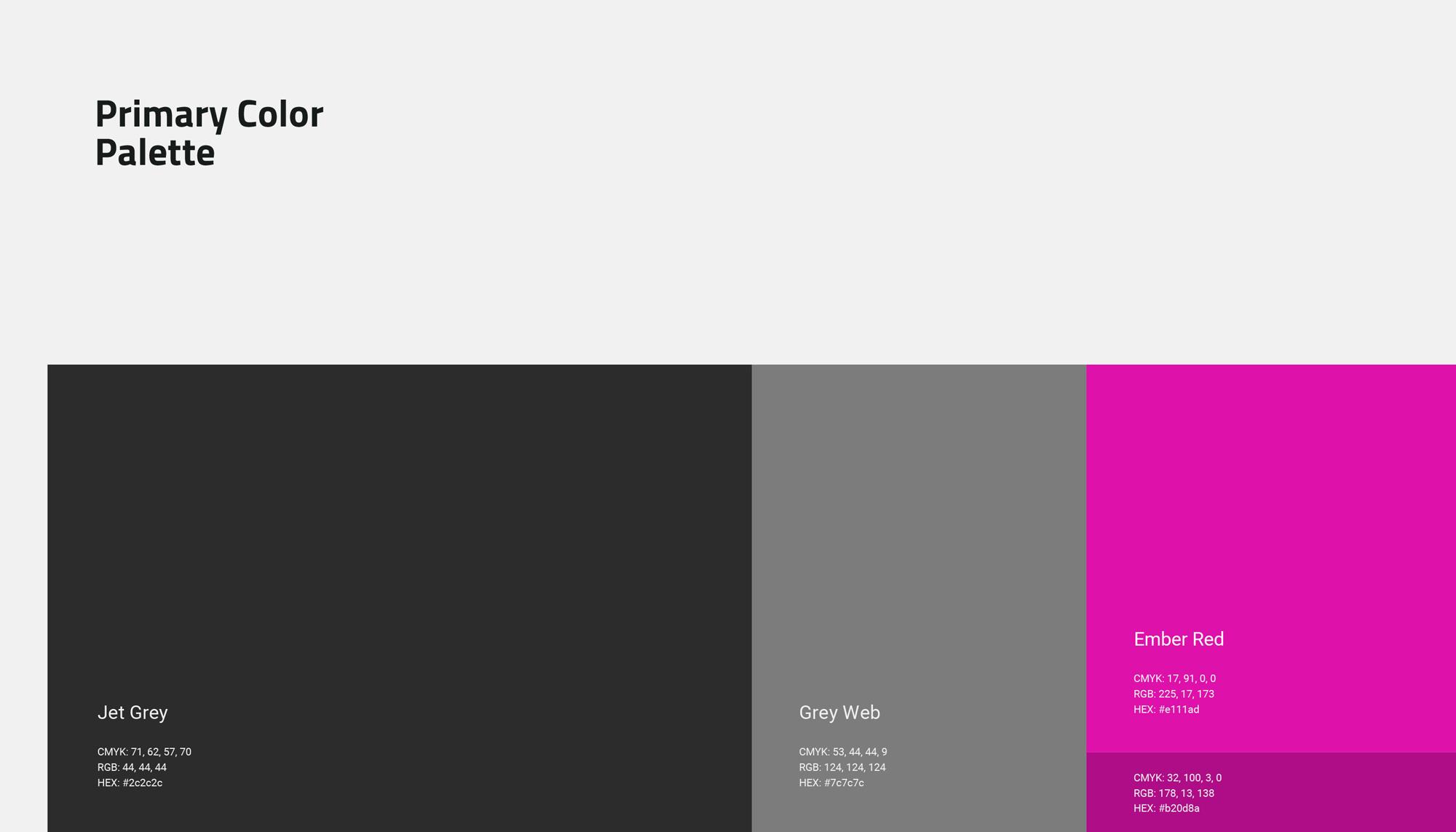 TITAN - Primary Color Palette